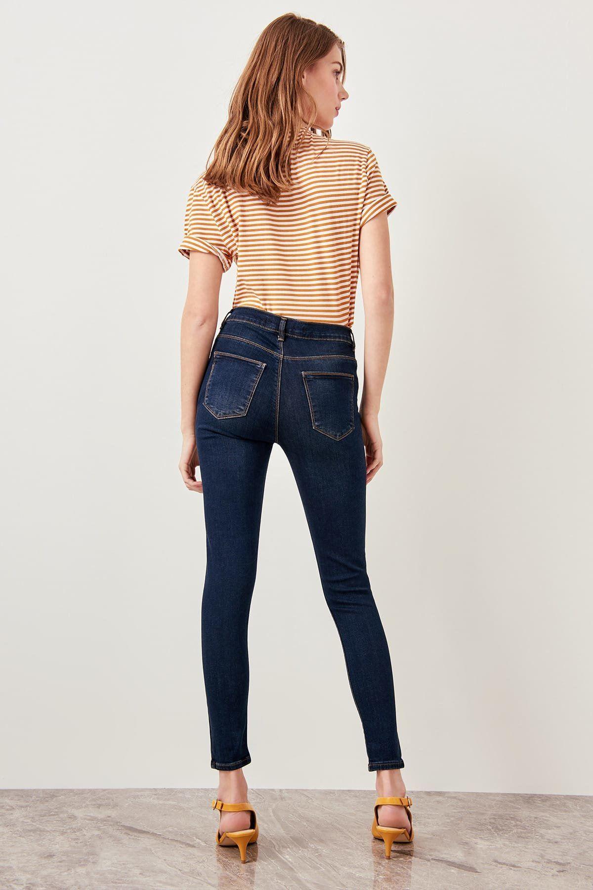 Yüksek Bel Skinny Jeans