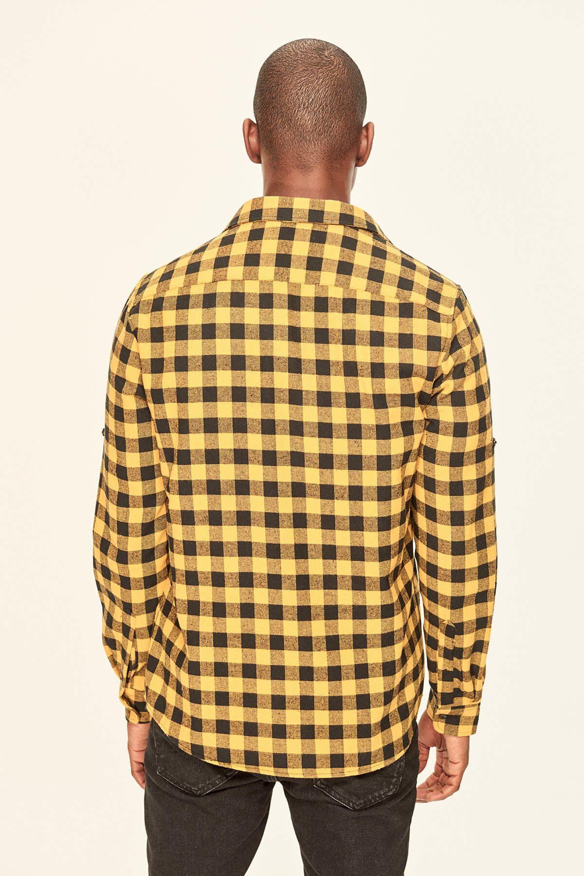 Hardal Oversize Kareli Gömlek