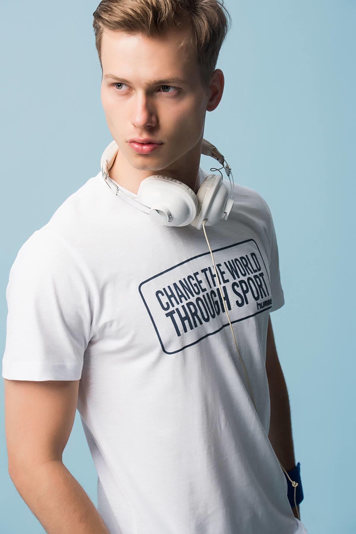Erkek Beyaz T-shirt Scott