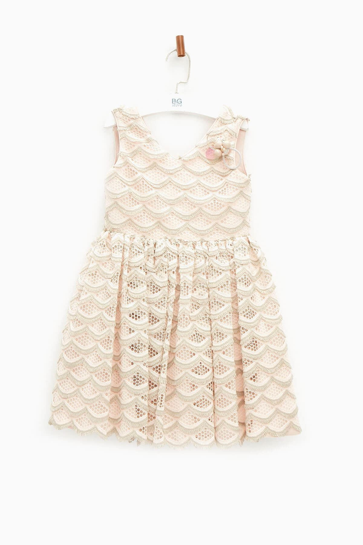 Somon Kız Çocuk Elbise