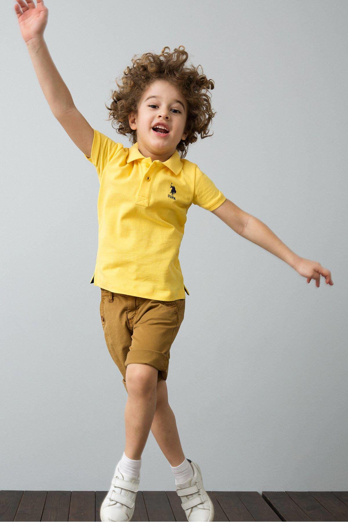 Sarı Erkek Çocuk T-Shirt