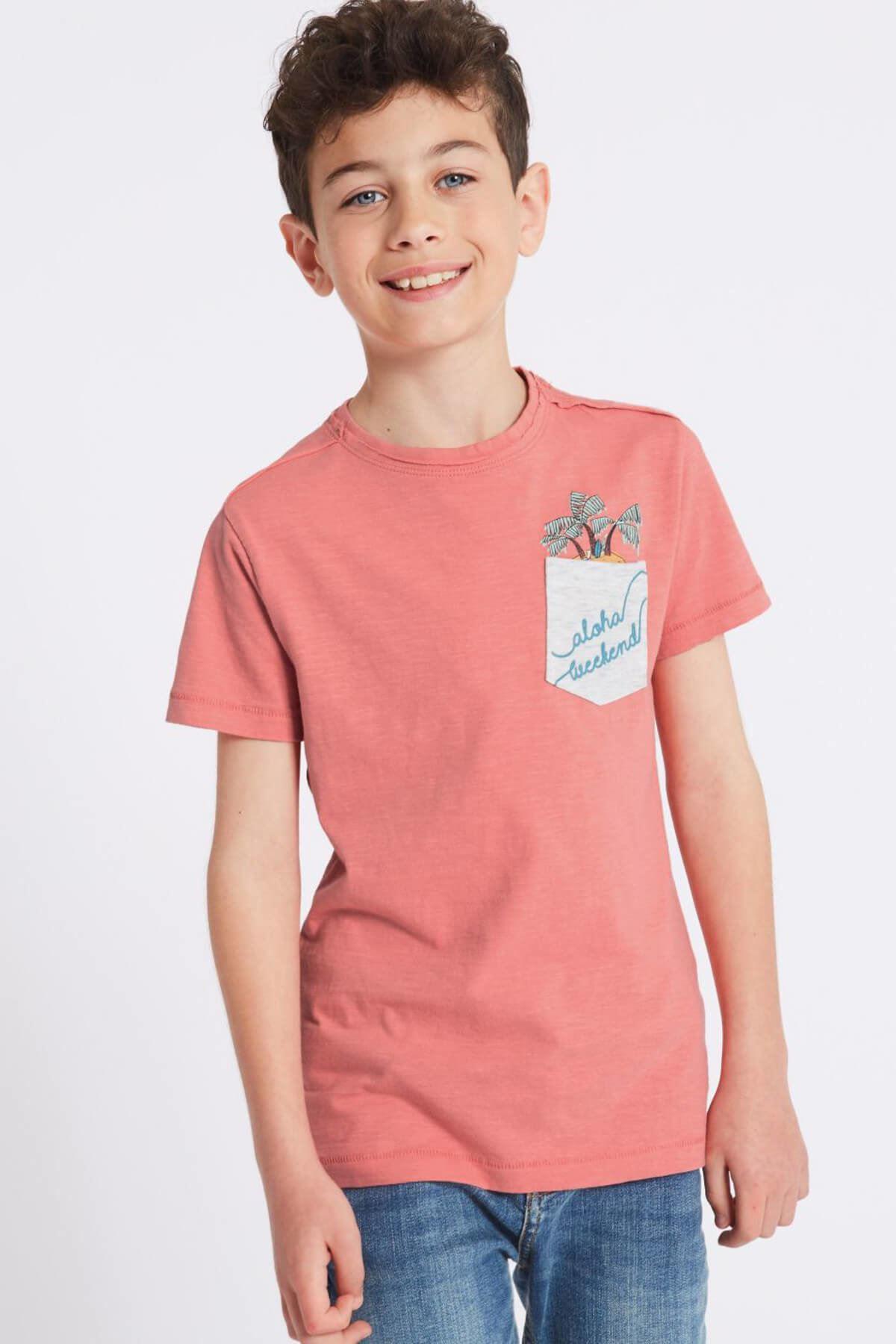 Multi Renk Erkek Çocuk 2'li Saf Pamuklu T-Shirt