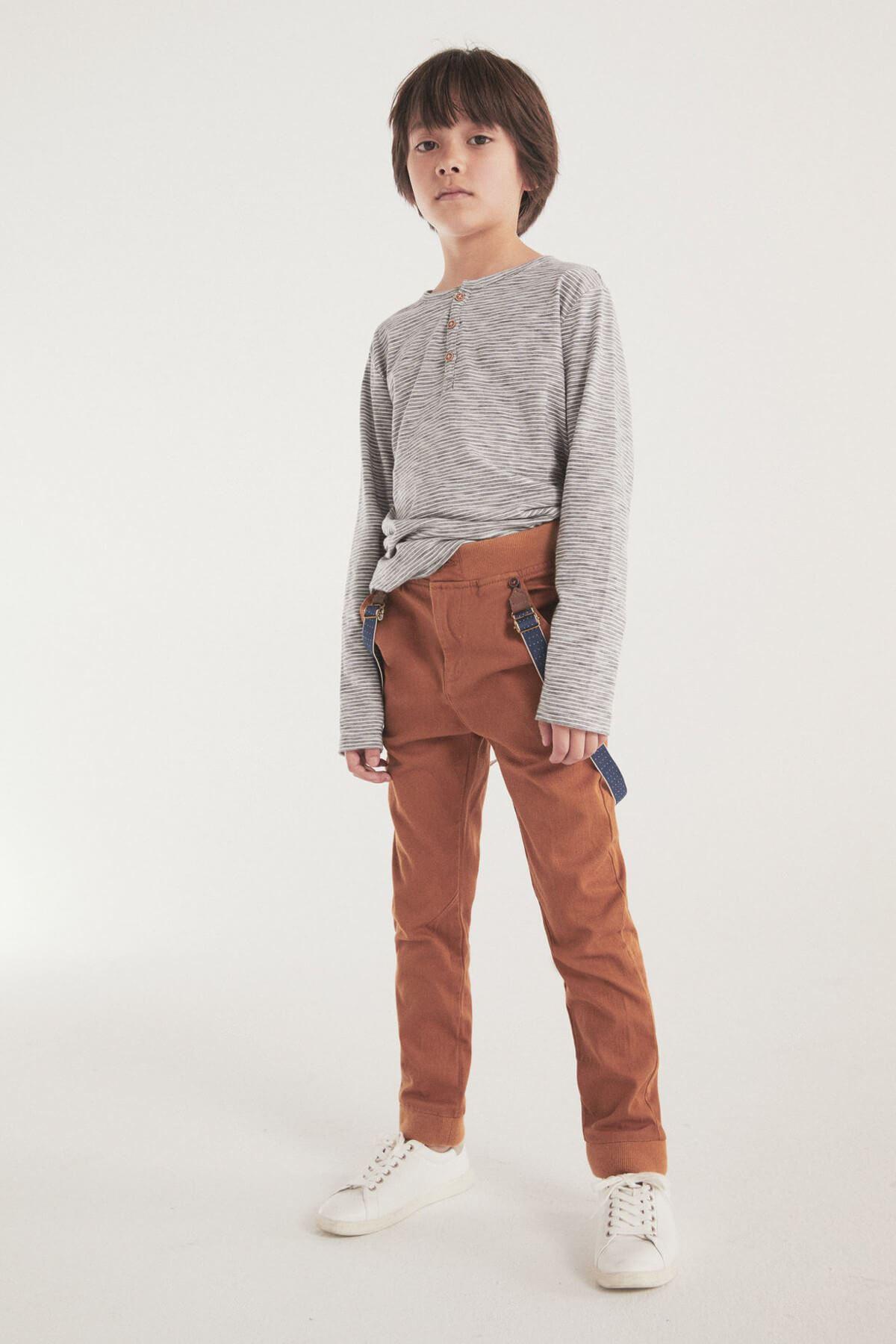 Kahverengi Erkek Çocuk Pantolon