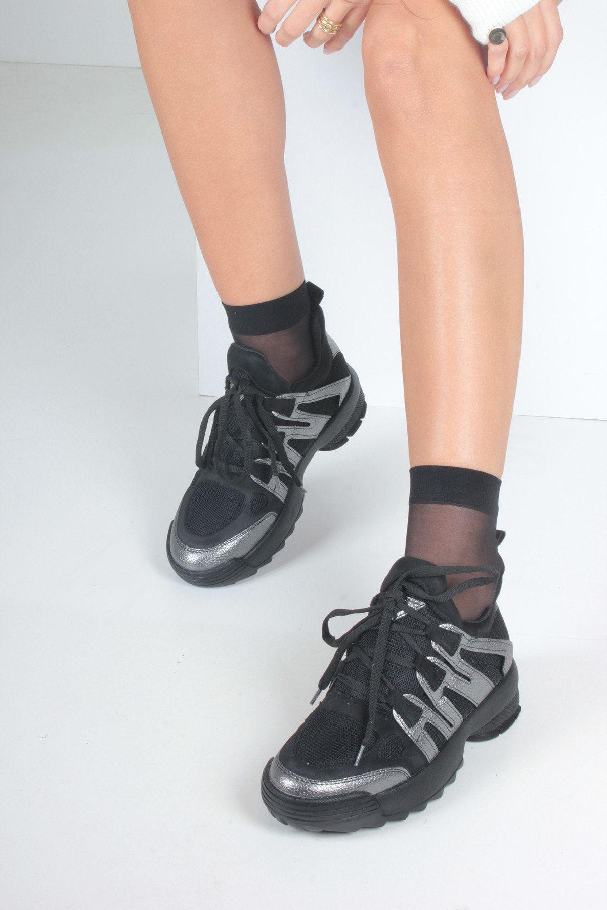 Platin Sim Kadın Spor Ayakkabı
