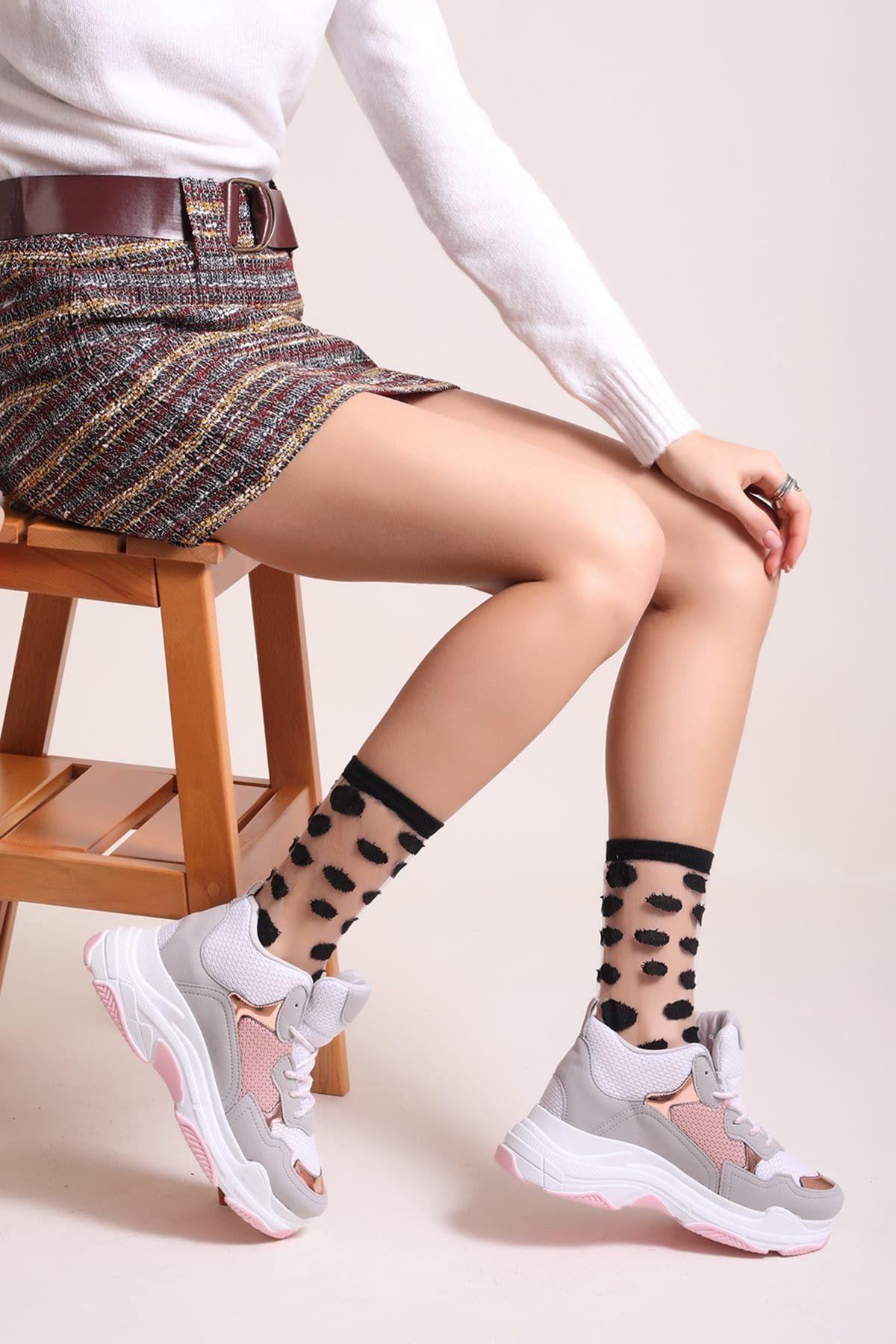 Pudra Kadın Spor Ayakkabı