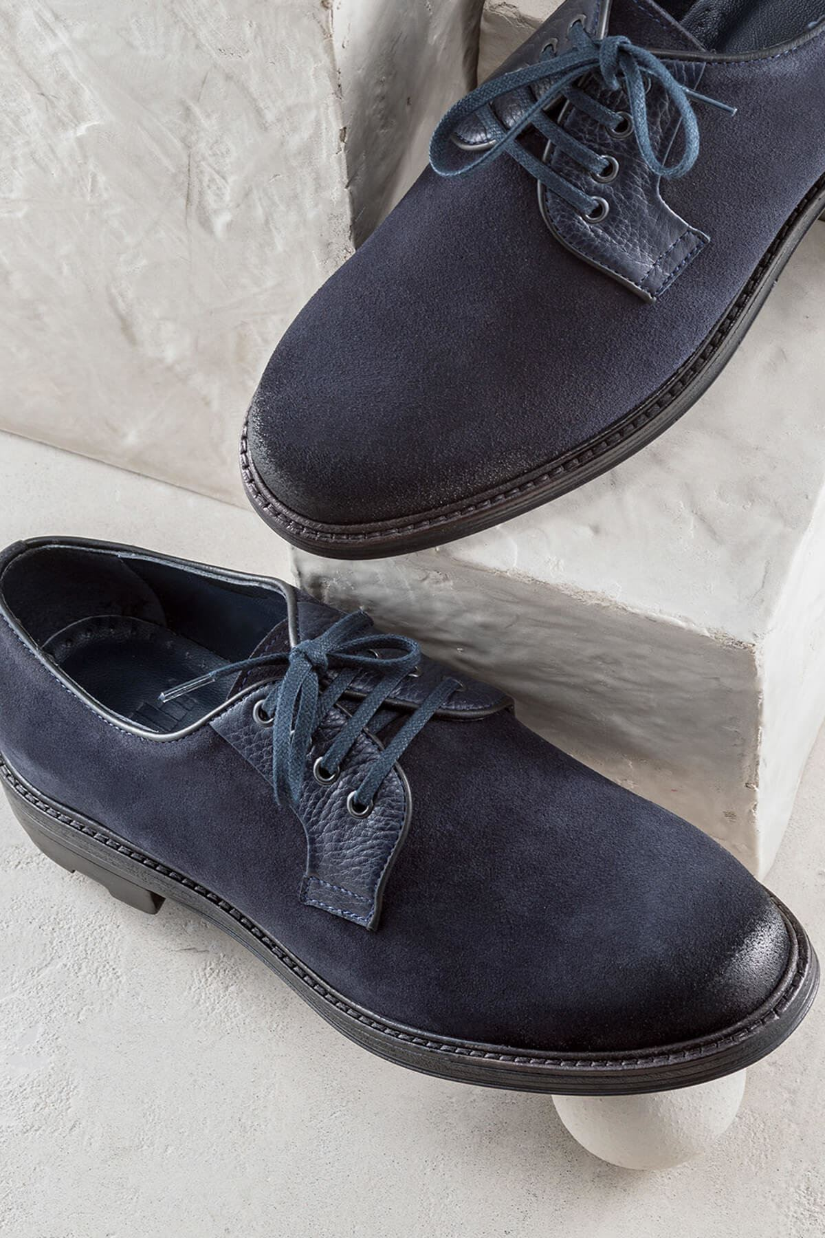 Hakiki Deri Lacivert Erkek Ayakkabı