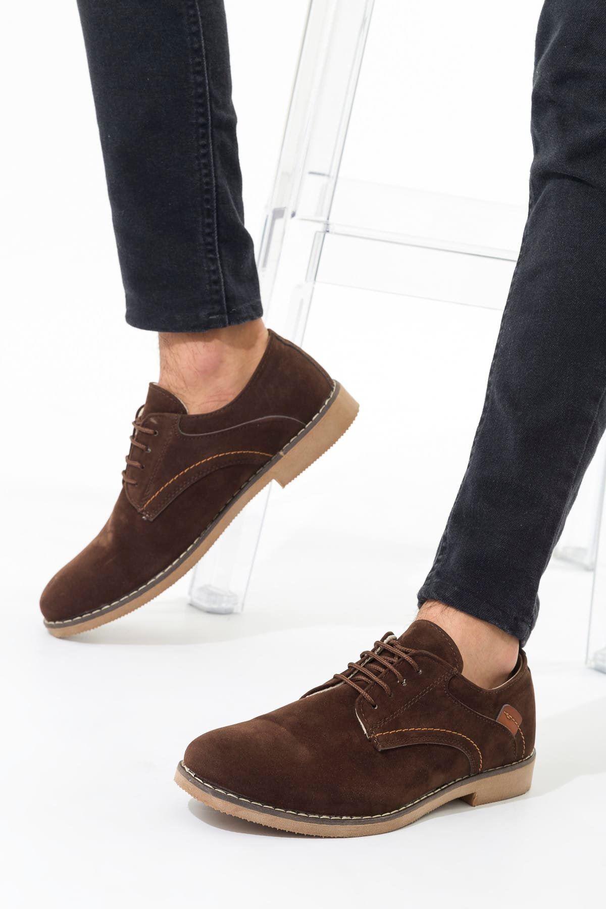 Kahve Süet Erkek Ayakkabı