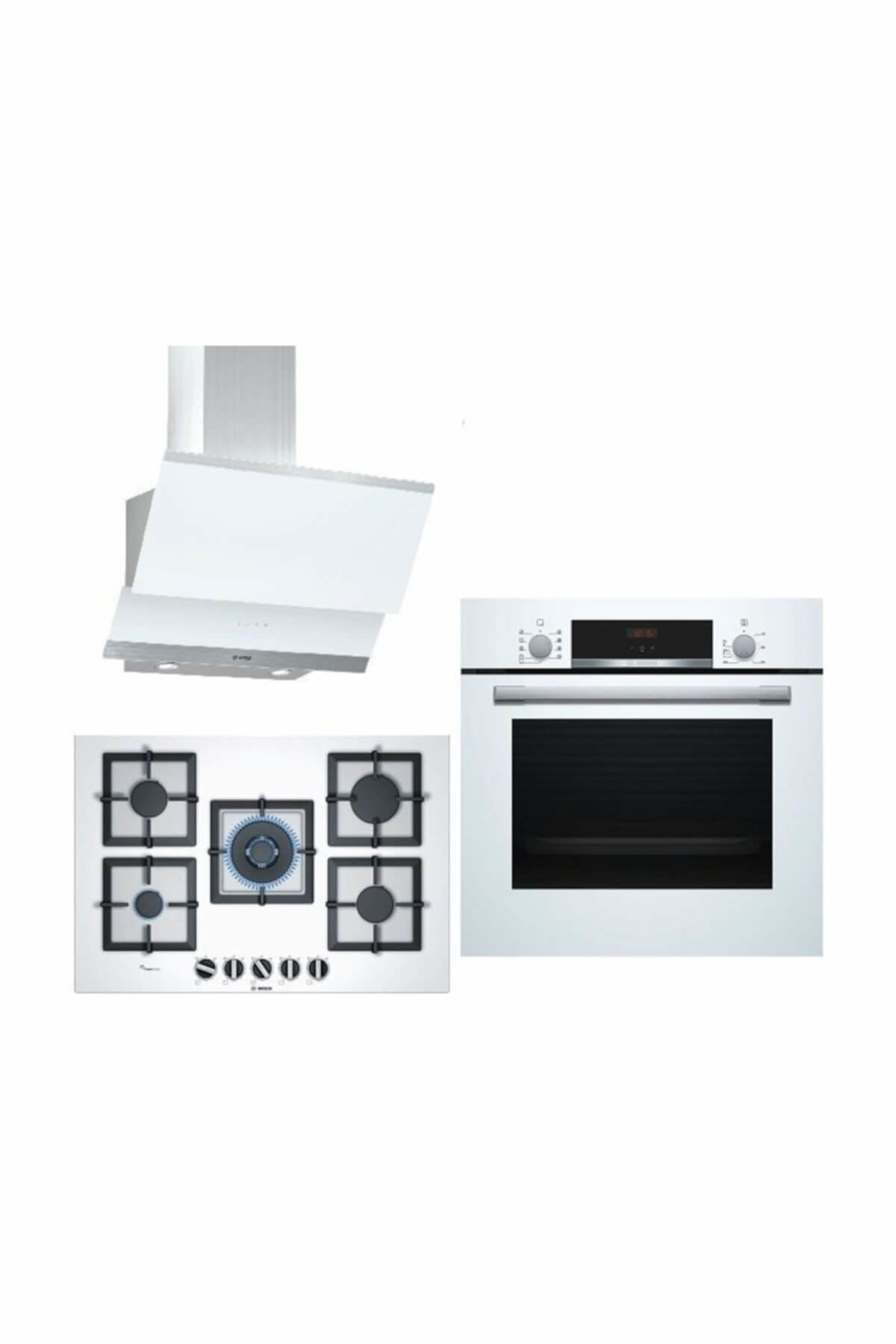 Bosch Ankastre Set50 (HBF534EW0T + PPQ7A2B20 + DWK065G20T) HBF534EW0T+PPQ7A2B20+DWK065G20T